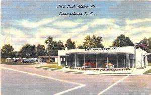 Orangeburg SC East End Motor Co. Lincoln Mercury Auto Dealership Postcard