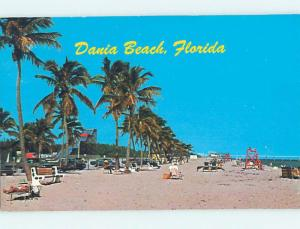 Unused Pre-1980 SCENE AT BEACH Dania Beach Florida FL M6620