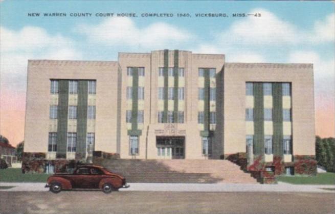Mississippi Vicksburg New Warren County Court House
