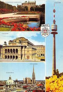 Wien Staatsoper Donauturm, Peterskirche Stephansdom Burggarten Theater