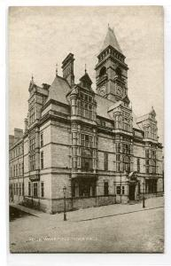 Wakefield Town Hall West Yorkshire UK postcard