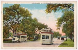 Double Deck Motor Bus, Lincoln Park Dr. Chicago Ill