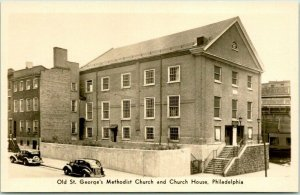 1937 Philadelphia PA Photo RPPC Postcard Old St. George's Methodist Church