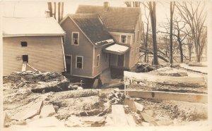 G42/ Montpelier Vermont RPPC Postcard c1920s Flood Disaster Homes 1