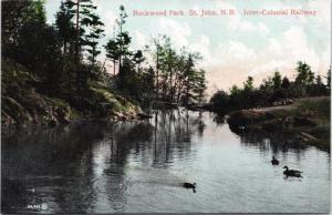Rockwood Park St. John NB New Brunswick Inter-Colonial Railway Postcard E36