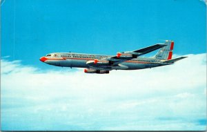 1960s American Airlines Boeing 707 Postcard POSTED COLOR aviation plane