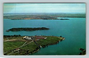 Kingston ON-Ontario Canada, Fort Henry, Aerial View, Chrome Postcard