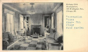 LP26 Bethany Girls Chicago  Illinois Postcard Recreation Room