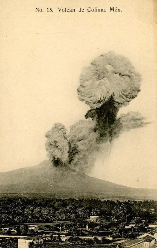 Mexico - Colima.  Volcano