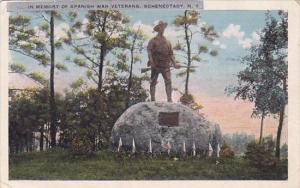 New York Schenectady In Memory Of Spanish War Veterans 1925