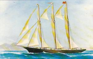 Canada Tern Schooner Tobeatic Painting in Harbour Room at The Battery St John...