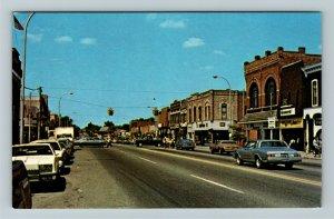 Rochester MI- Michigan, Corner Of Main And 4th Streets, Vintage Chrome Postcard