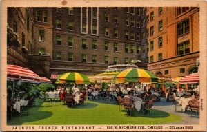 Jacques French Restaurant Chicago Illinois IL outdoor dining ~ POSTED 1937