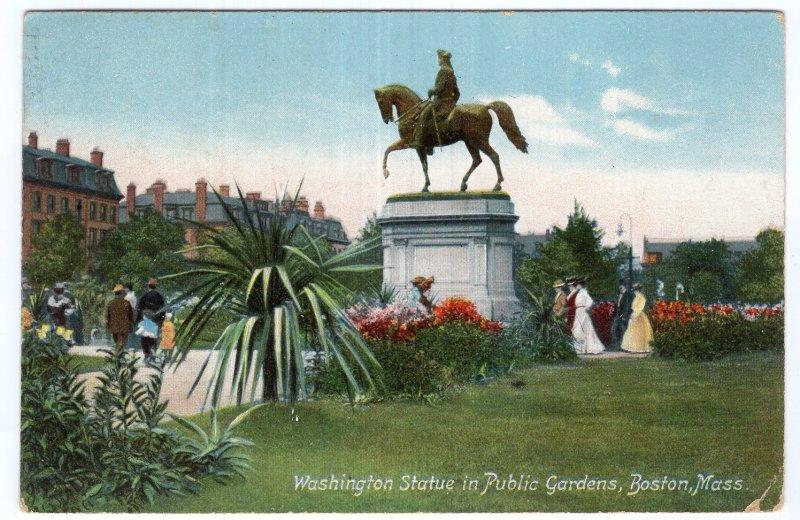 Boston, Mass, Washington Statue in Public Gardens