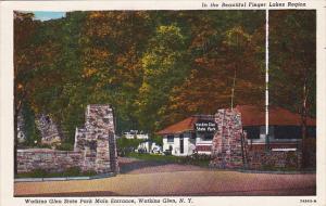 New York Watkins Glen State Park Main Entrance Watkins Glen 1955 Curteich
