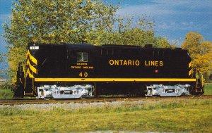 Ontario Midland Railroad Locomotive No 40 ALCO RS-36
