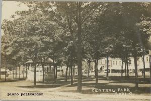 LODI, OHIO CENTRAL PARK RPPC REAL PHOTO POSTCARD