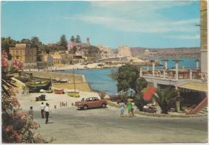 MALTA, ST. PAUL'S BAY, used Postcard