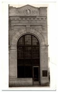 RPPC Simmons & Co. Bankers- now Civic Center, Kenosha, WI Postcard *4V