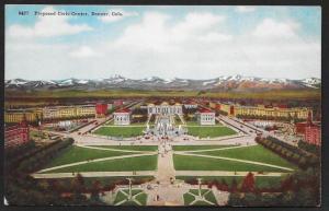 Proposed Civic Center Denver Colorado Unused c1910s