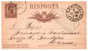 Italy Genova Cancelled 1882