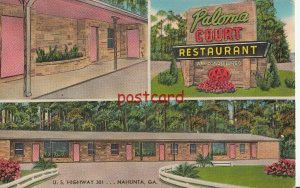 c1950's PALOMA COURT & REST. Nahunta GA, Mr & Mrs EA Raulerson, $4.50 a couple