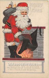 Santa Claus Christmas 1921 light wear right bottom corner
