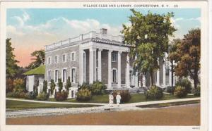 New York Cooperstown Village Club and Library Curteich