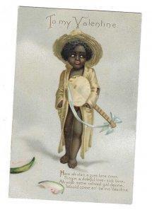 VALENTINE, 1901-07s; Boy with a Banjo