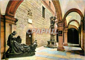 Postcard Modern Sanctuario de Loyola Fountain St. Ignatius and entrance to th...