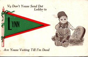 Massachusetts Lynn Vy Don't Youse Send Dot Ledder 1912 Pennant Series