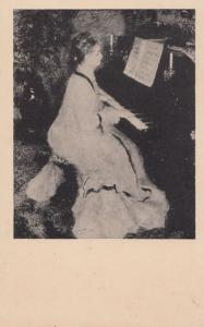 Auguste Renoir Playing Piano Antique Postcard