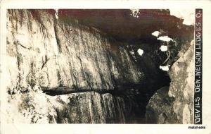 1940 Devils Den Nelson Ledges Ohio RPPC real photo postcard 3593