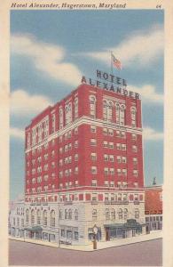 Exterior, Hotel Alexander, Hagerstown,  Maryland,  30-40s