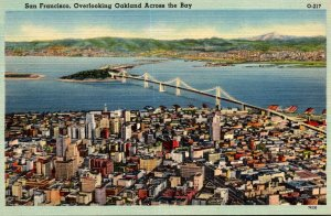 California San Francisco Overlooking Oakland Across The Bay