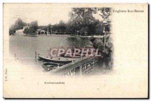 Old Postcard Enghien Les Bains Embarcadere