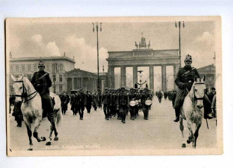 191165 WWII GERMANY BERLIN parade Vintage postcard