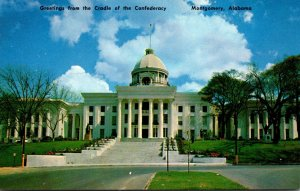 Alabama Montgomery Greetings Fron The Cradle Of The Confederacy