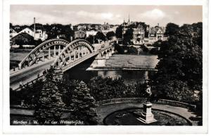 Postcard Germany North Rhine / Westphalia Minden An der Weserbrucke