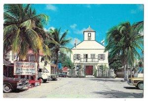 Netherland Antilles St Maarten Philipsburg Post Office Court Vtg 4X6 Postcard