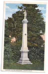 Louisville KY Zachary Taylor Monument Kentucky Postcard
