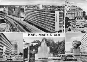 Karl-Marx-Stadt Strasse der Nationen, Ensemble Lobgedichte, Schlossteichanlagen