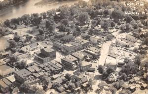 Athens Pennyslvania~Birdseye Air View~Business District~Homes~1950s Cars~RPPC
