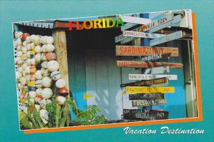 Florida Vacation Destination Signage to Different Cities