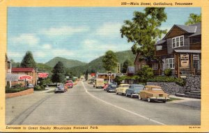 Tennessee Gatlinburg Main Street Entrance To Great Smoky Mountains National P...