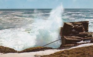 Maine Acadia National Park Ocean Drive High Surf At Thunder Hole