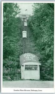 Dubuque, Iowa Postcard Fenelon Place Elevator Funicular Railway c920s Unused