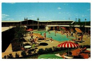 Dallas TX Postcard Lido Hotel & Cabanas Hwy 67 & 80 Swimming Pool Guests #75376
