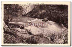 Fontaine de Vaucluse Old Postcard High source birth