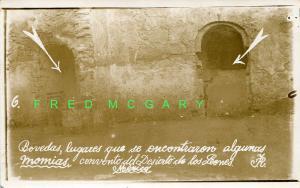 1915 Convento de Deserto de Los Leones, Federal District, Real Photo-Mummy Caves